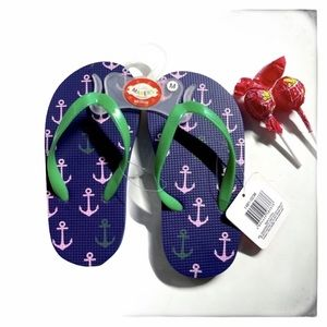 hP] PURPLE MIX ANCHOR FLIP FLOPS KIDS